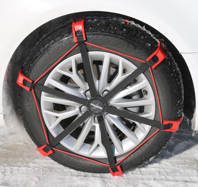 New Polaire Steel Sock hybrid snow chains